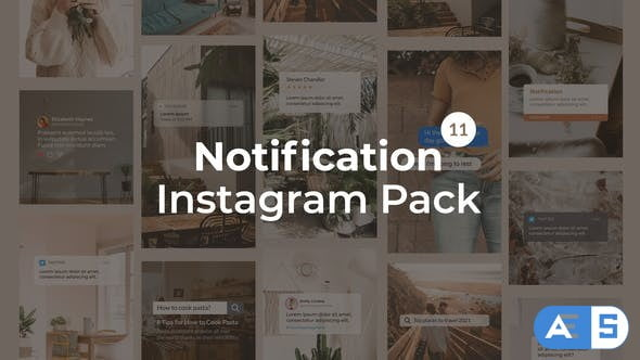 Videohive Notification Instagram Pack | Vertical and Square 27562957