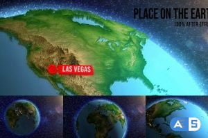 Videohive Place on The Earth | Map | Globe 26207705
