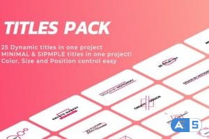 Videohive Ingenious Titles Pack 27661257