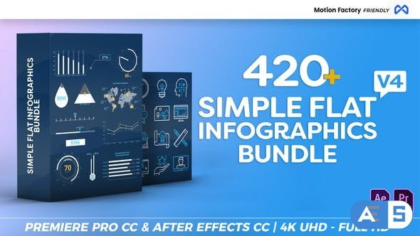 Videohive Simple Flat Infographics Bundle V4 22266430