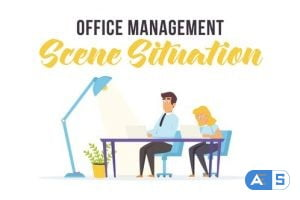Videohive Office management – Scene Situation 27597097