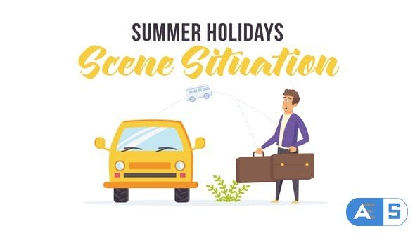 Videohive Summer holidays – Scene Situation 27597117
