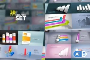 Videohive 3D Infographics Set 23635639