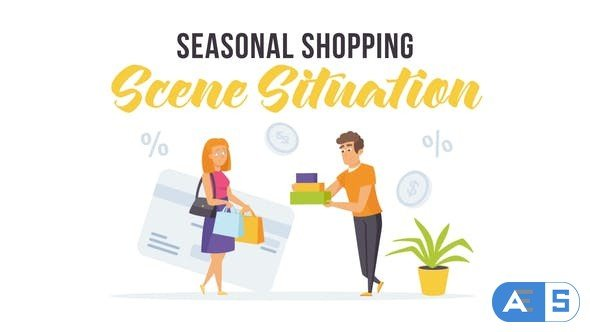 Videohive Seasonal shopping – Scene Situation 27597156