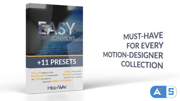 Videohive Easy Environment + 11 Presets 17607085
