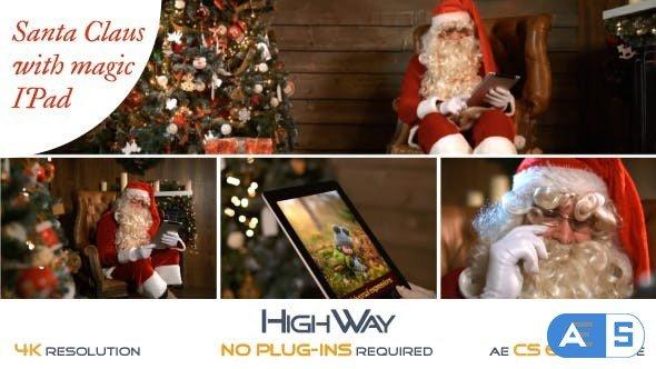 Videohive Santa Claus With Magic IPad 19072421