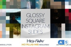 Videohive Glossy Square Instagram Slides 17120559