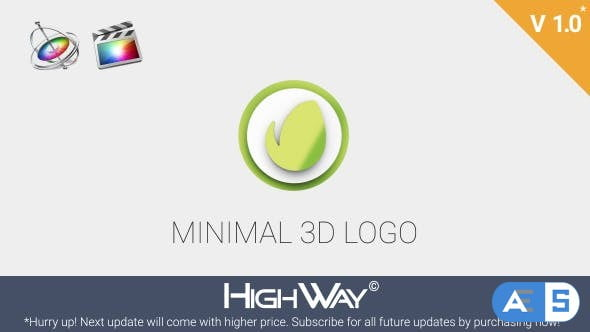 Videohive Minimal 3D Logo Reveal | Apple Motion & FCPX 21373283