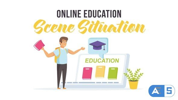 Videohive Online education – Scene Situation 27597240