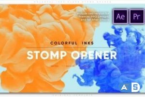 Videohive  Colorful Inks Claps Stomp Opener 27803998