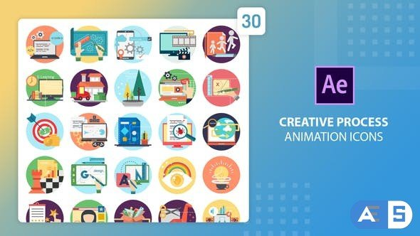 Videohive Creative Process Animation Icons | After Effects 27541664