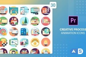 Videohive Creative Process Animation Icons | Premiere Pro MOGRT 27542585