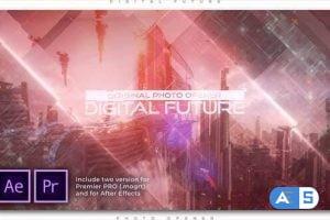 Videohive Digital Future Photo Opener 27690835