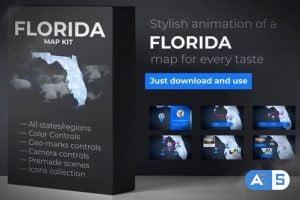 Videohive Florida Map – Florida Map Kit 27817848
