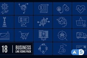 Videohive Business Line Icons 26180849