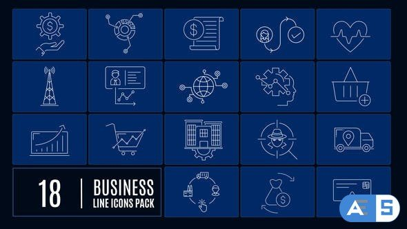 Videohive Business Line Icons 26185416