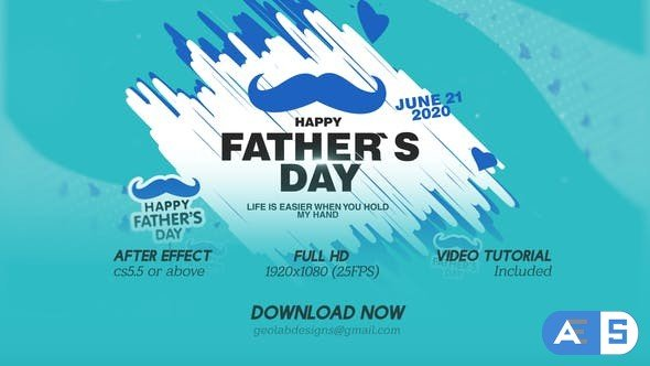 Videohive Fathers Day Titles l Fathers Day Wishes l Fathers Day Template l World Best DAD l DAD Wishes 27385509