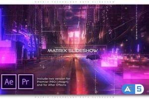 Videohive Matrix Technology Data Slideshow 27594862