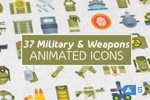 Videohive 37 Military & Weapons Icons 27022105