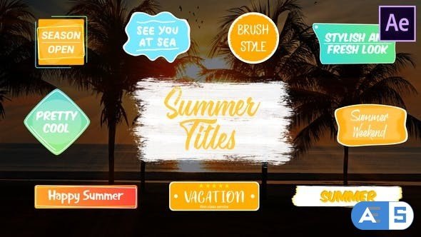 Videohive Colorful Summer Titles | After Effects 27538248