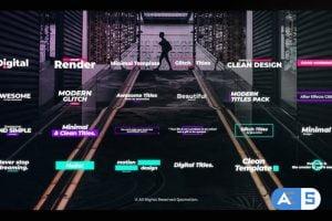 Videohive Digital Glitch Titles 25119005