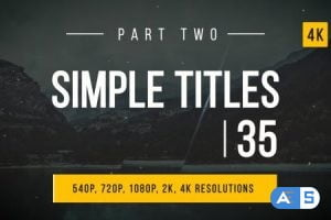 Videohive Simple Titles / Lower Thirds 14914390