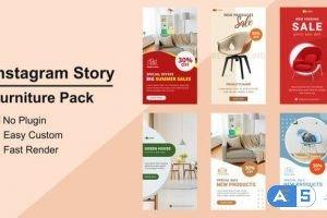 Videohive Furniture Instagram Stories V09 27610444