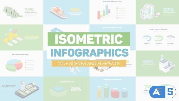 Videohive Isometric Infographics 20869321