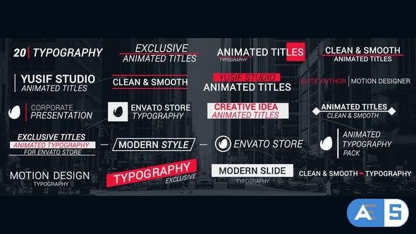 Videohive Title Animation 27856754