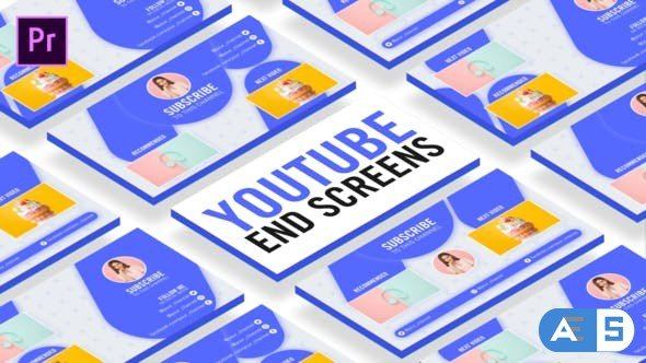 Videohive Clean Youtube End Screens 27066798
