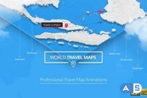Videohive World Travel Maps 23191952