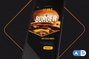 Videohive Restaurant Delivery Menu Opener 26533277