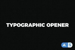 Videohive Typographic Opener || Stomp 19497023