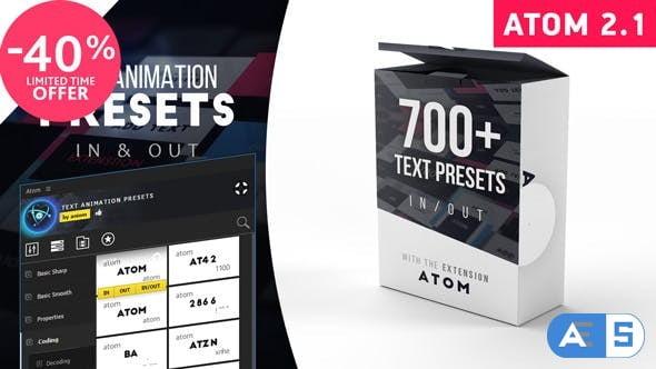 Videohive Text Presets | Atom V2.1 23150189