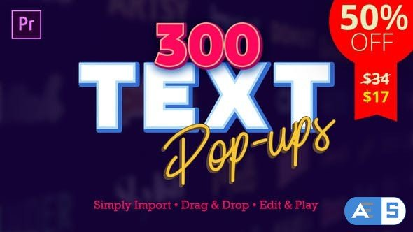 Videohive Text Popups V3.1 24372597