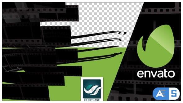 Videohive Film Stripe Logo Transition 9564218