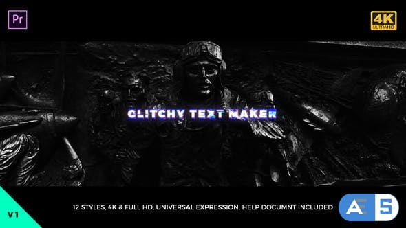 Videohive Glitchy Text Maker Mogrt 21841910
