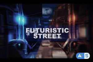 Videohive 4k Futuristic thechnology street opener 26876186