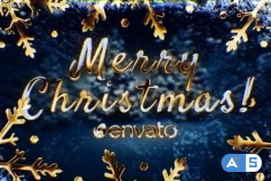 Videohive Golden Christmas Wishes with Magic Particles 25114567