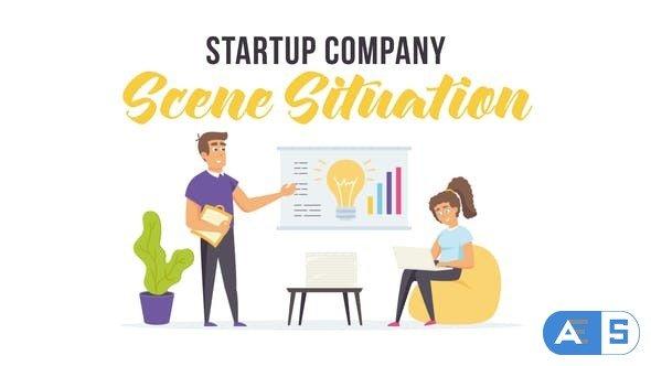 Videohive Startup company – Scene Situation 28255724
