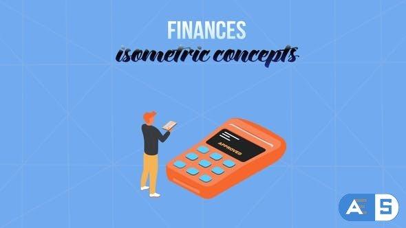 Videohive Finances – Isometric Concept 28231983