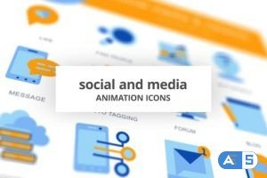 Videohive Social & Media – Animation Icons 28168472