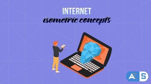Videohive Internet – Isometric Concept 28232000