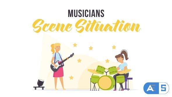 Videohive Musicians – Scene Situation 28255909