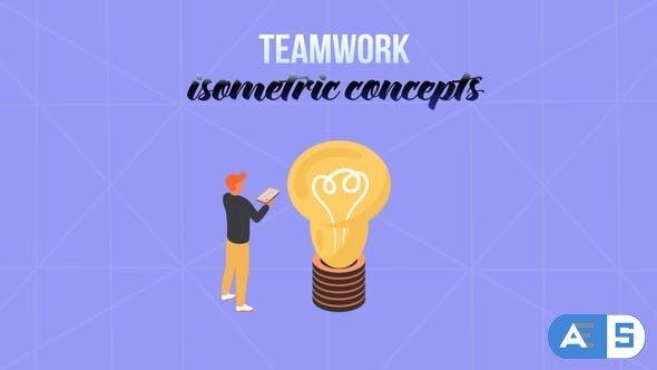 Videohive Teamwork – Isometric Concept 28232002