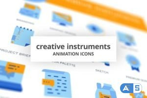 Videohive Creative Instruments – Animation Icons 28168079