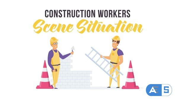 Videohive Construction workers – Scene Situation 28256036