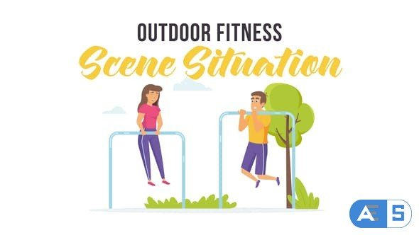 Videohive Outdoor fitness – Scene Situation 28256058