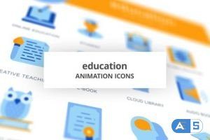 Videohive Education & Knowledge – Animation Icons 28168237