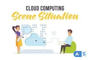 Videohive Cloud computing – Scene Situation 28256101